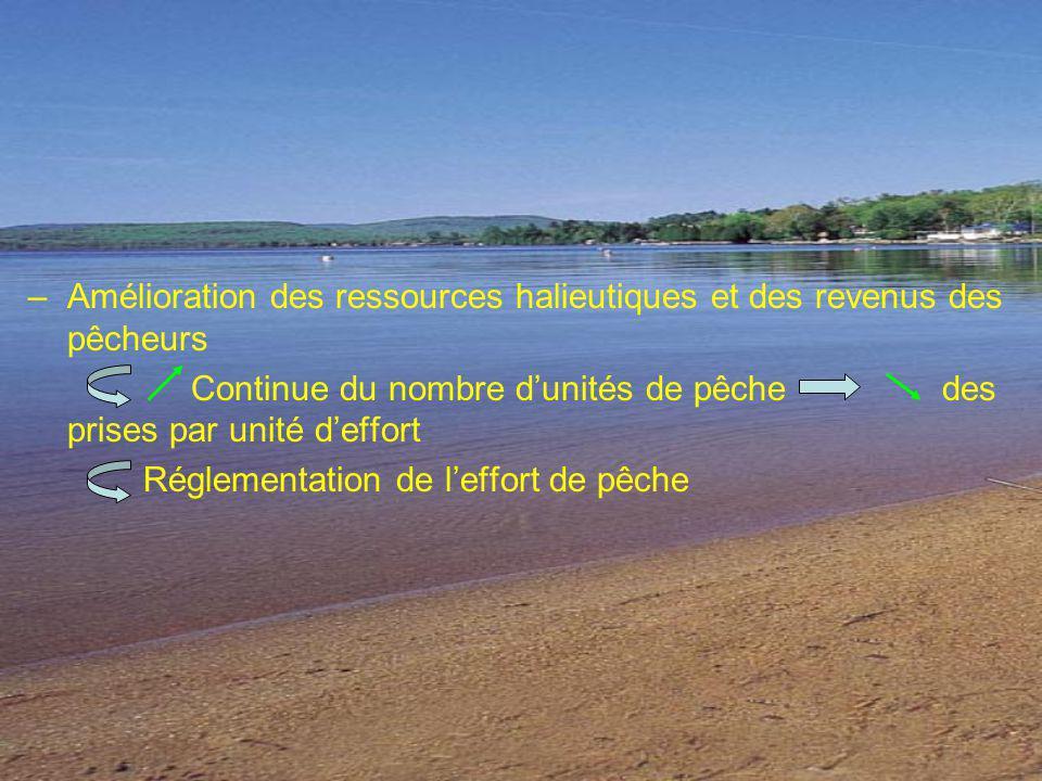 Amélioration des ressources halieutiques et des revenus des pêcheurs