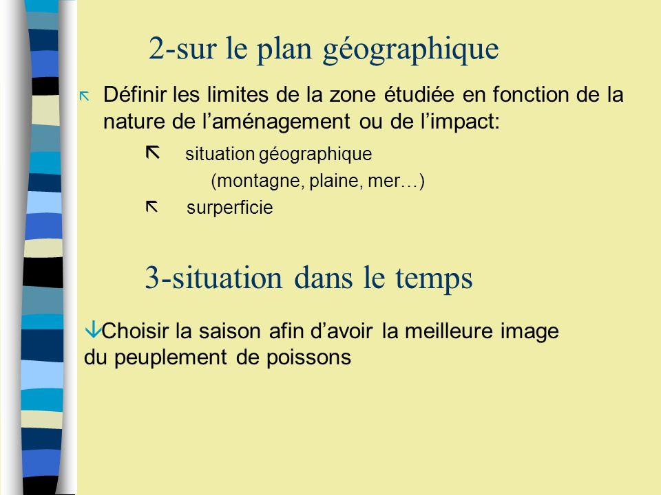 2-sur le plan géographique