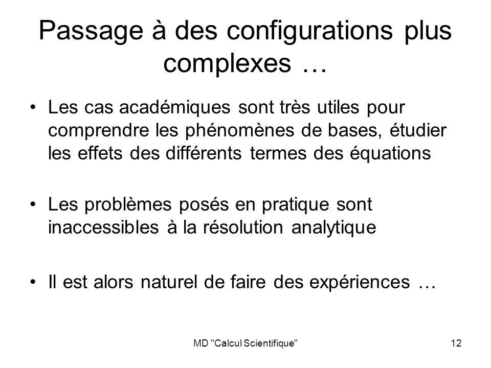 Passage à des configurations plus complexes …