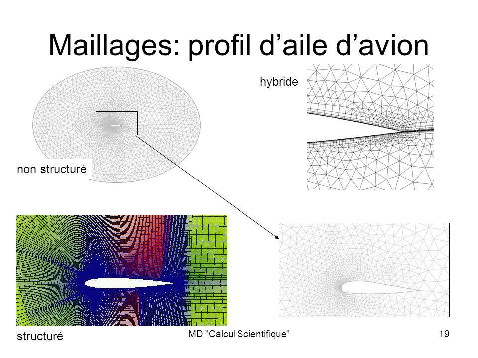 Maillages: profil d'aile d'avion