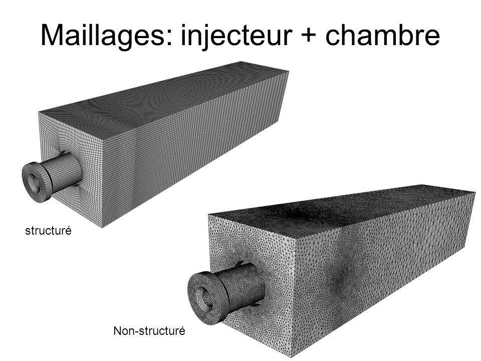 Maillages: injecteur + chambre