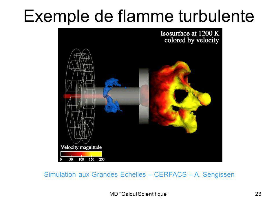 Exemple de flamme turbulente stable