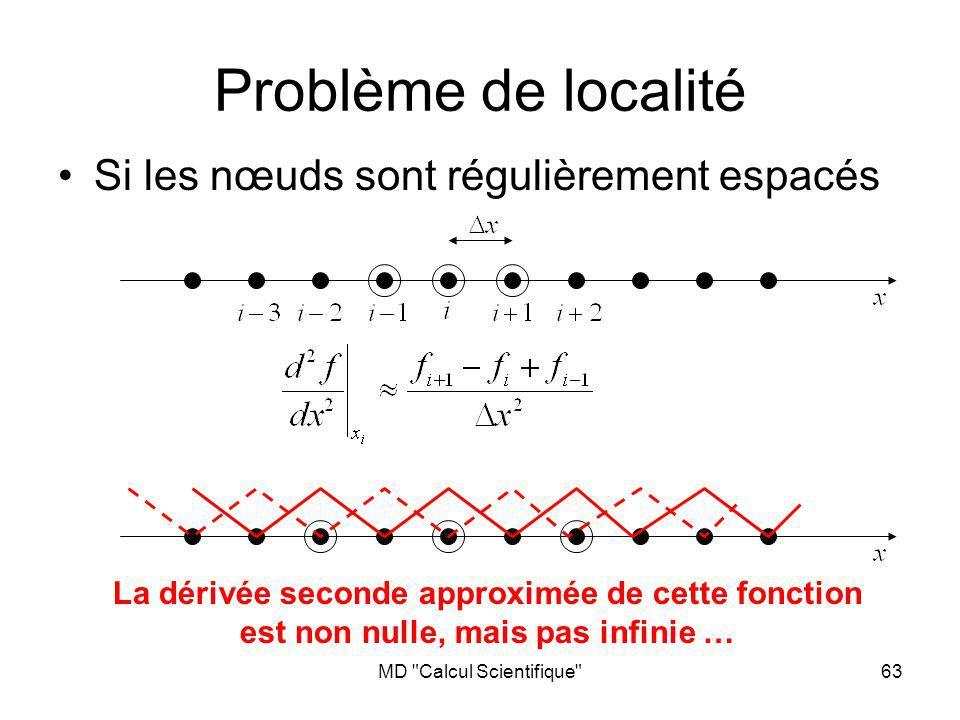 Problème de localité Si les nœuds sont régulièrement espacés
