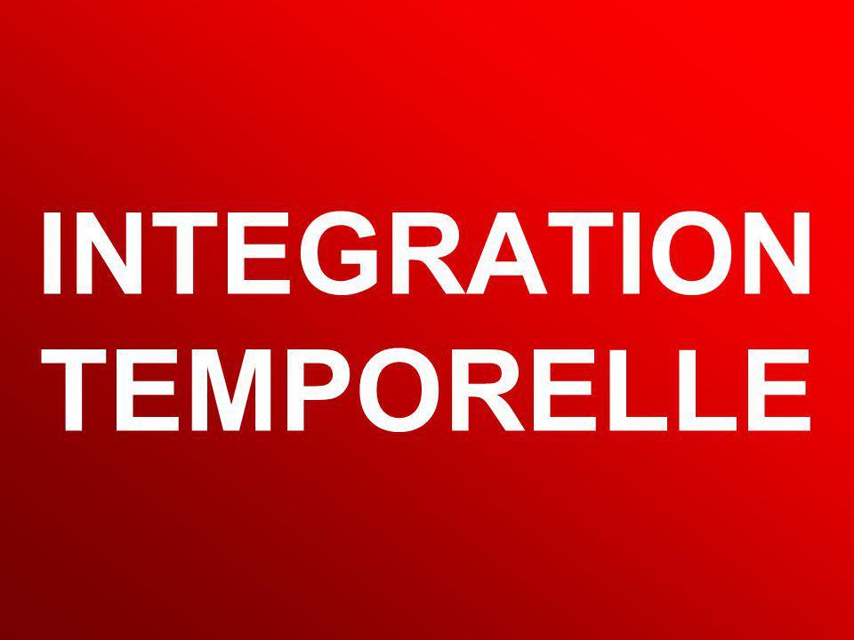 INTEGRATION TEMPORELLE