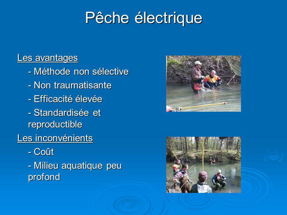 Pêche électrique Les avantages - Méthode non sélective