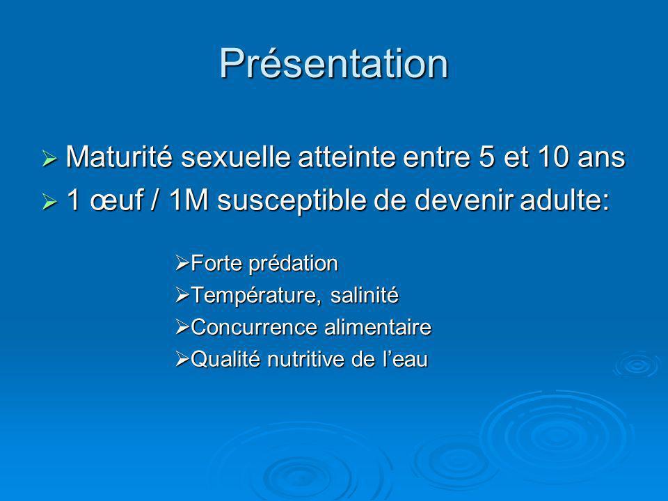 Présentation Maturité sexuelle atteinte entre 5 et 10 ans