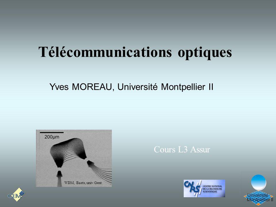 Télécommunications optiques