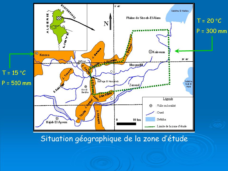 Situation géographique de la zone d'étude