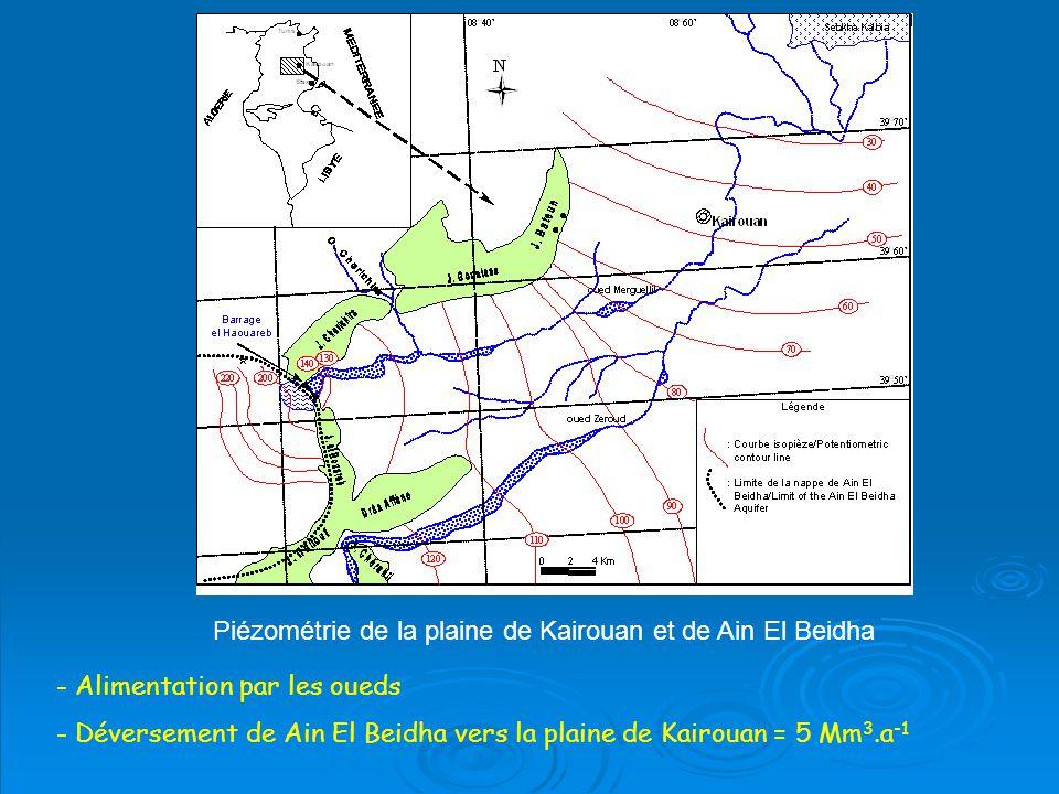 Piézométrie de la plaine de Kairouan et de Ain El Beidha