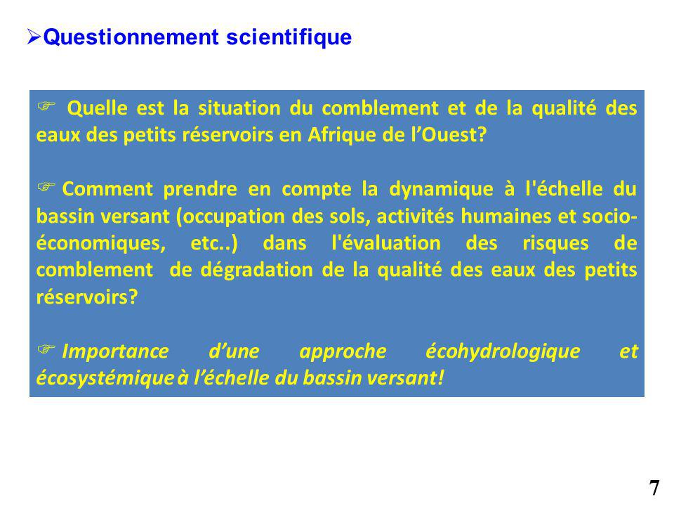 Questionnement scientifique