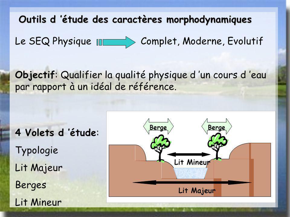 Outils d 'étude des caractères morphodynamiques