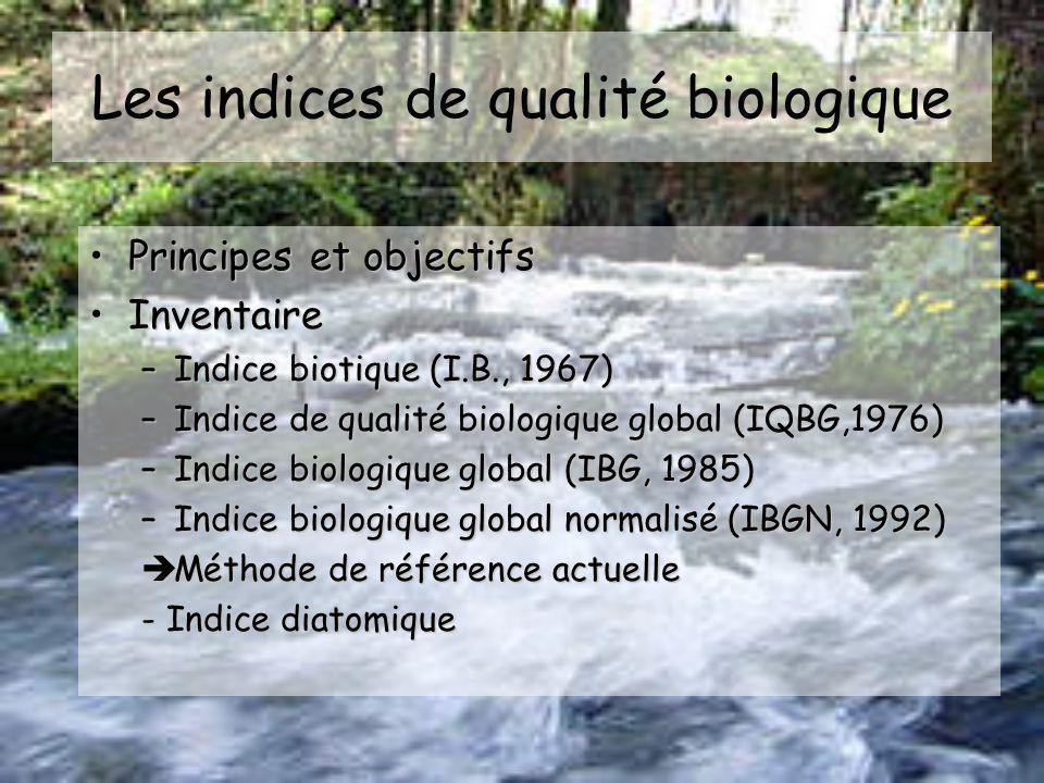 Les indices de qualité biologique