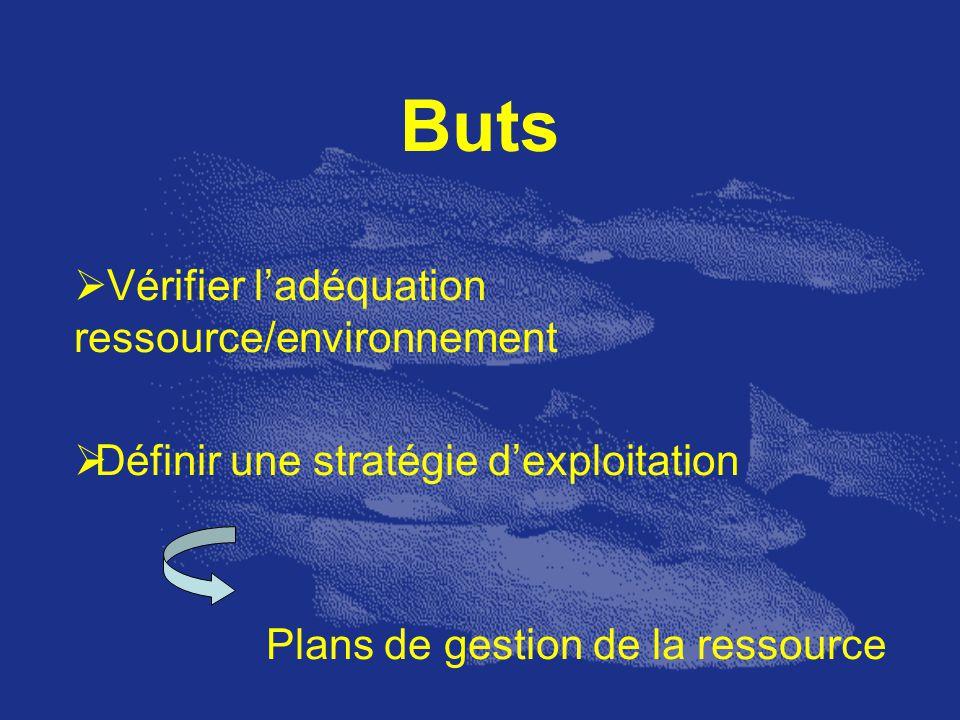 Buts Vérifier l'adéquation ressource/environnement