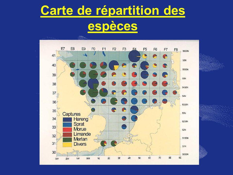 Carte de répartition des espèces