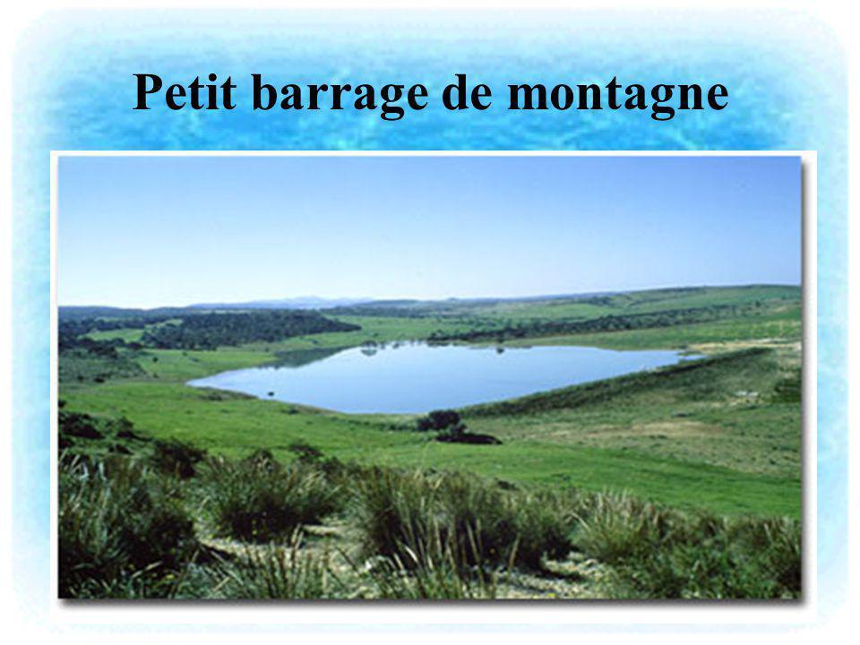 Petit barrage de montagne