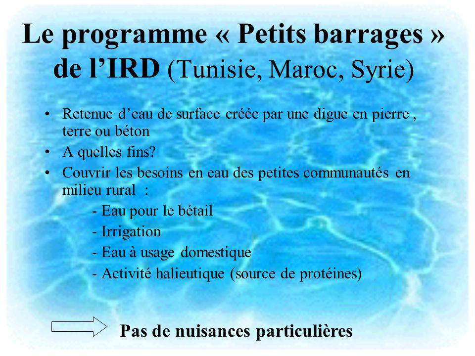 Le programme « Petits barrages » de l'IRD (Tunisie, Maroc, Syrie)