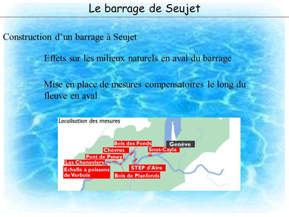 Le barrage de Seujet Construction d'un barrage à Seujet