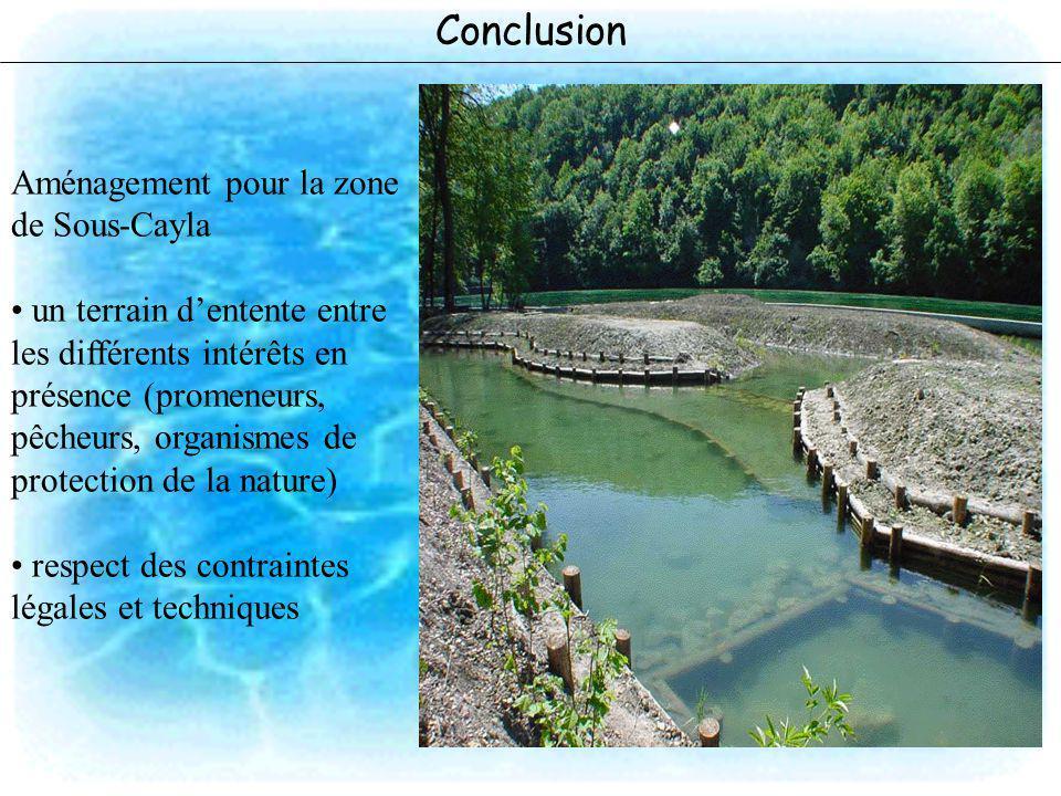 Conclusion Aménagement pour la zone de Sous-Cayla