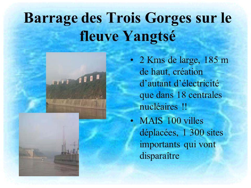 Barrage des Trois Gorges sur le fleuve Yangtsé