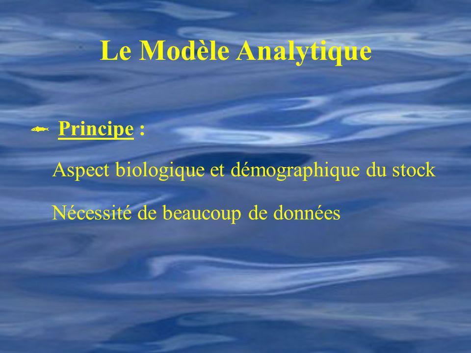 Le Modèle Analytique  Principe :