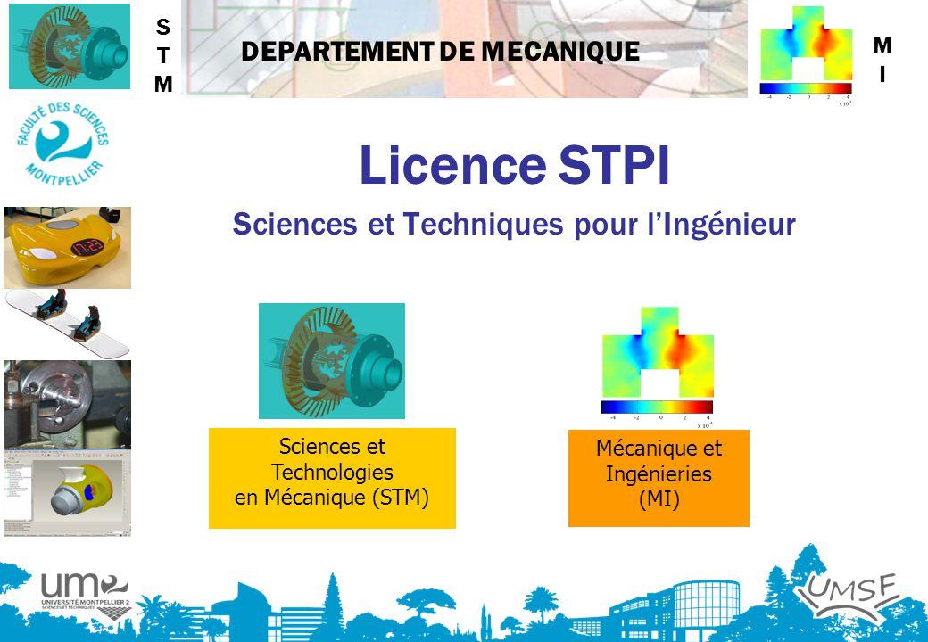 Licence STPI Sciences et Techniques pour l'Ingénieur