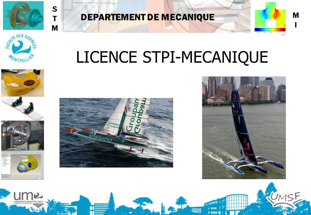 LICENCE STPI-MECANIQUE