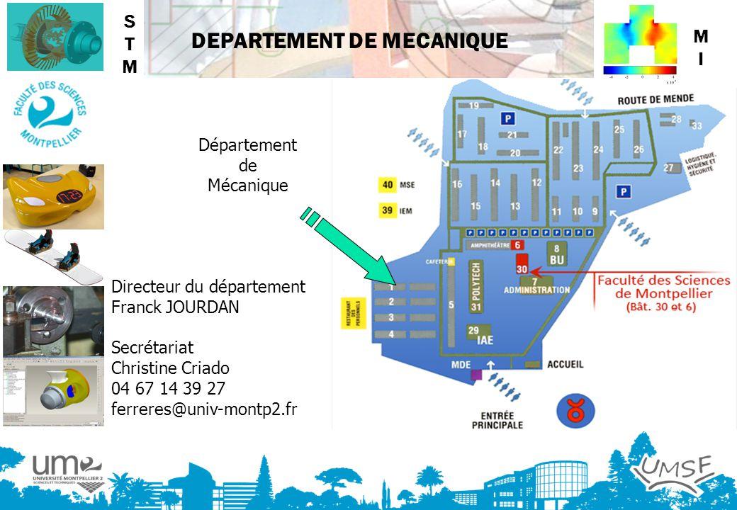STM MI Département de Mécanique Directeur du département