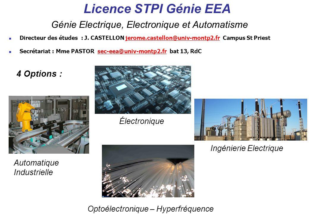 Licence STPI Génie EEA Génie Electrique, Electronique et Automatisme