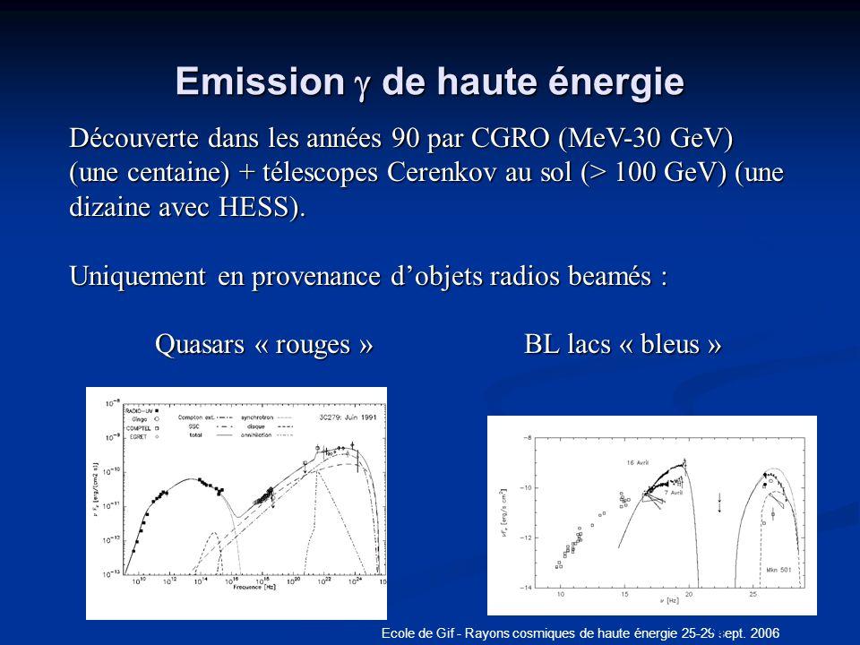 Emission g de haute énergie