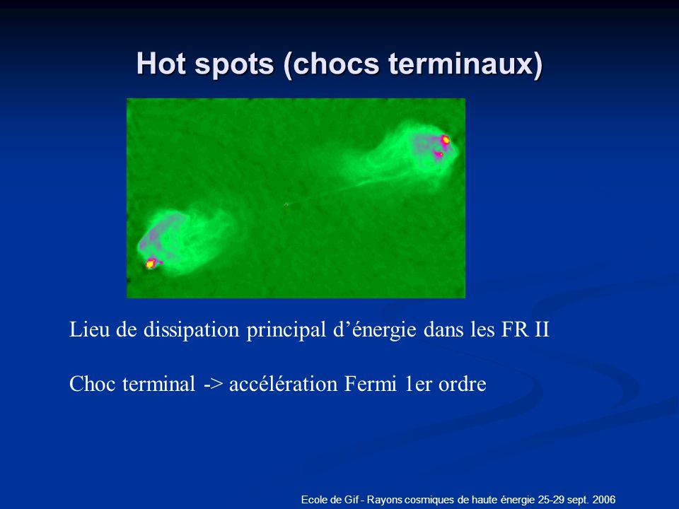 Hot spots (chocs terminaux)