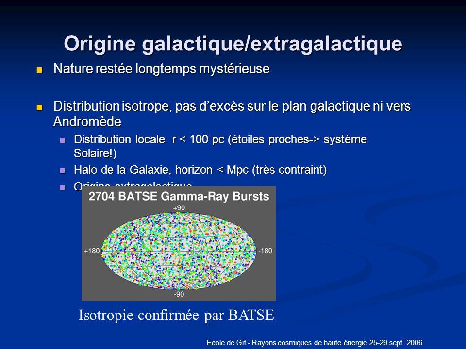 Origine galactique/extragalactique