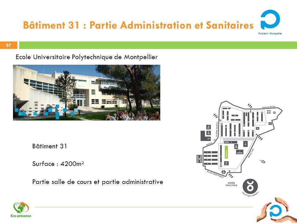 Bâtiment 31 : Partie Administration et Sanitaires