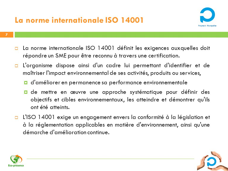 La norme internationale ISO 14001