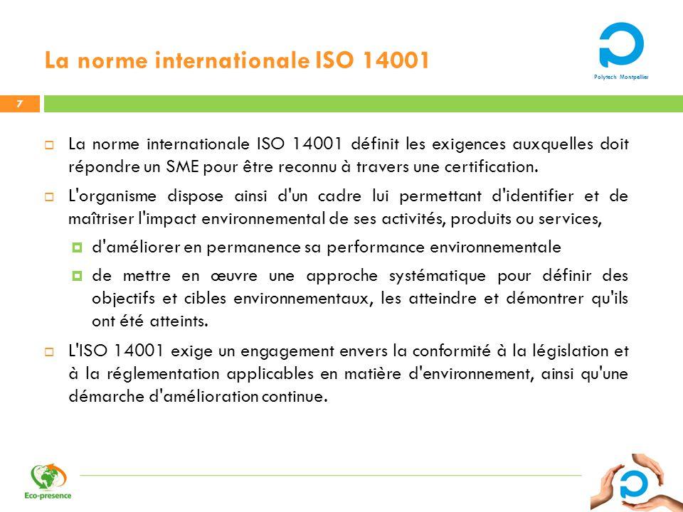 La norme internationale ISO 14001