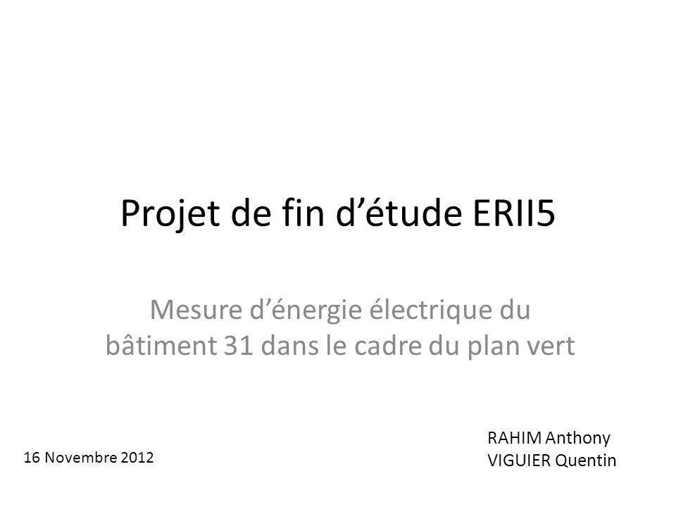 Projet de fin d'étude ERII5