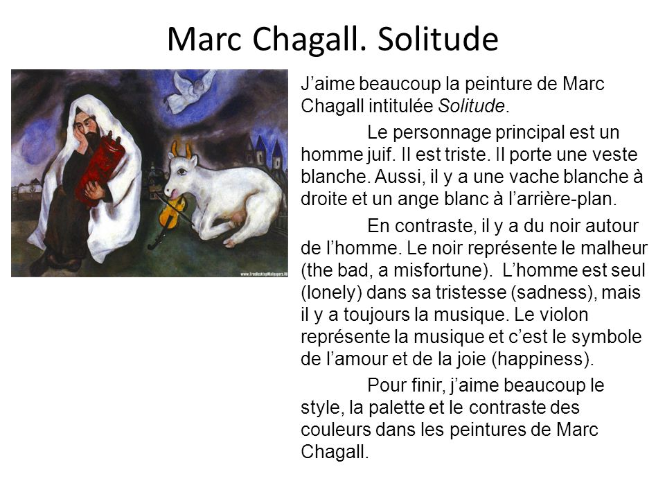 Marc Chagall. Solitude