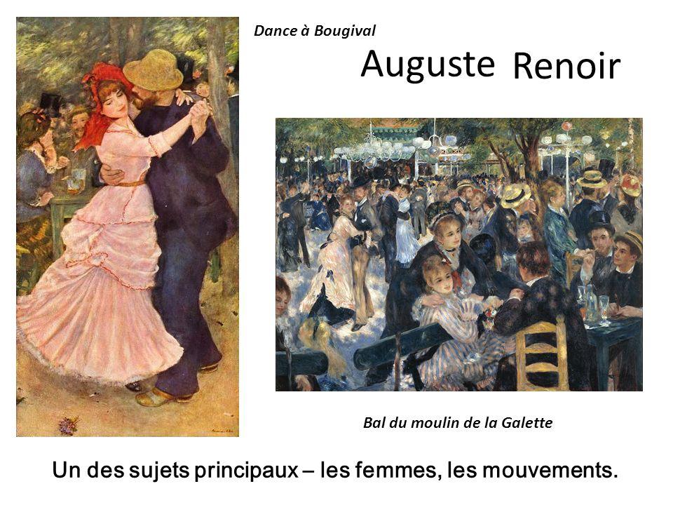 Auguste Renoir Un des sujets principaux – les femmes, les mouvements.