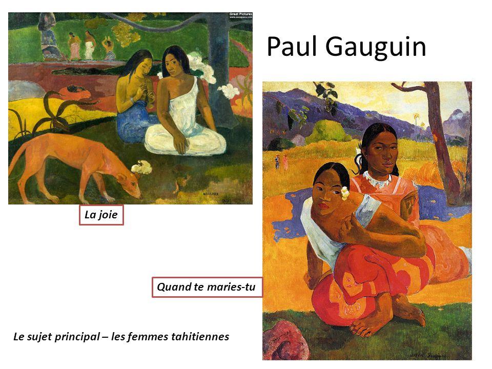 Paul Gauguin La joie Quand te maries-tu