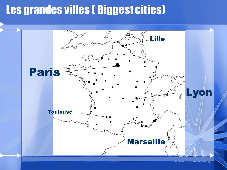 Les grandes villes ( Biggest cities)