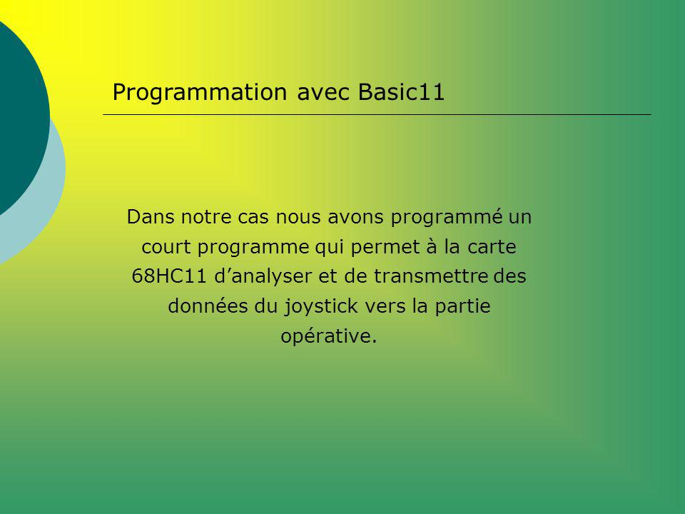 Programmation avec Basic11