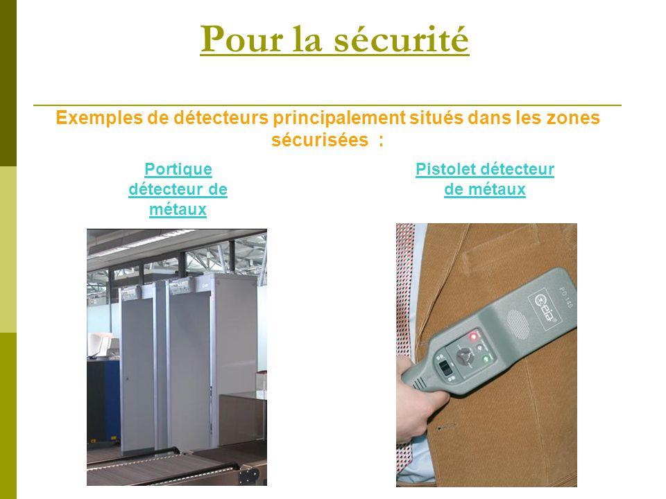 Portique détecteur de métaux Pistolet détecteur de métaux