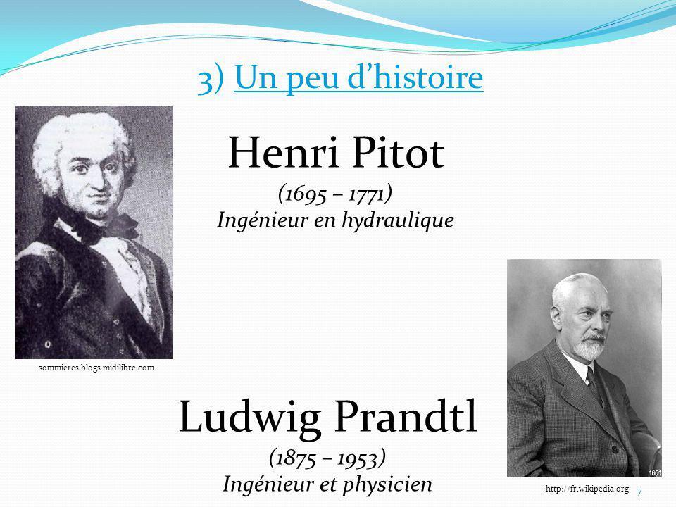 Henri Pitot (1695 – 1771) Ludwig Prandtl (1875 – 1953)