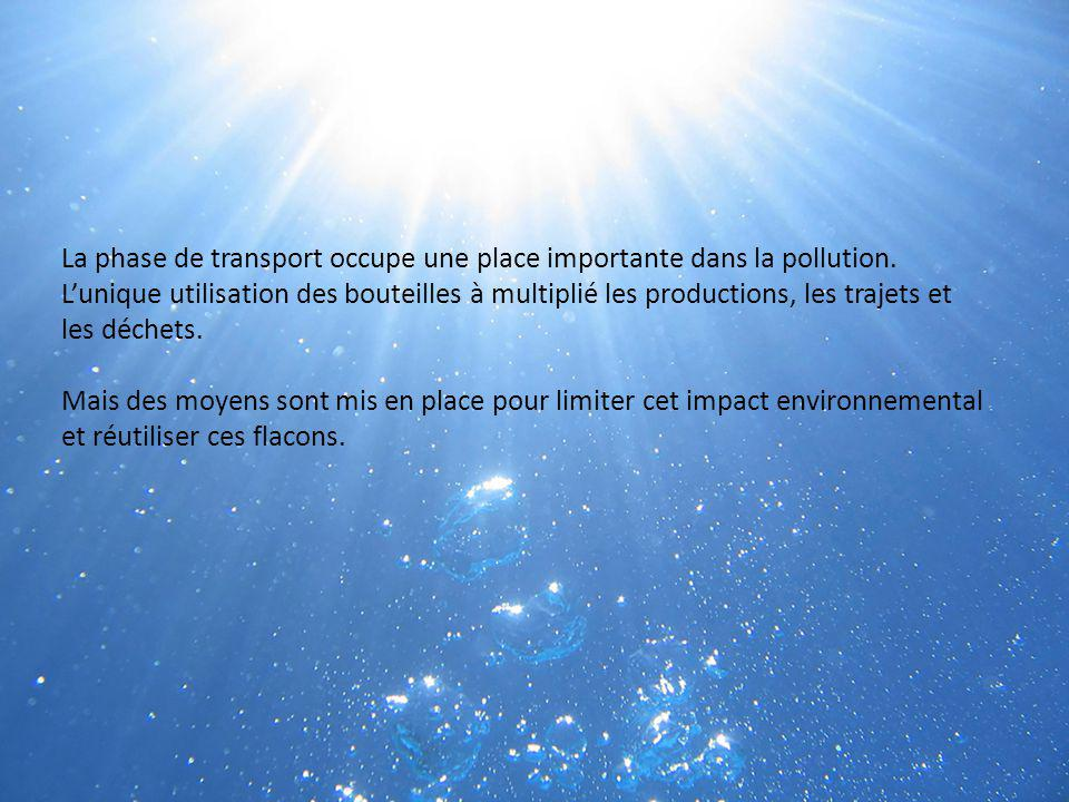 La phase de transport occupe une place importante dans la pollution