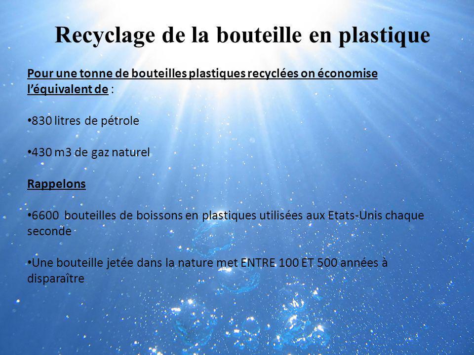 Recyclage de la bouteille en plastique