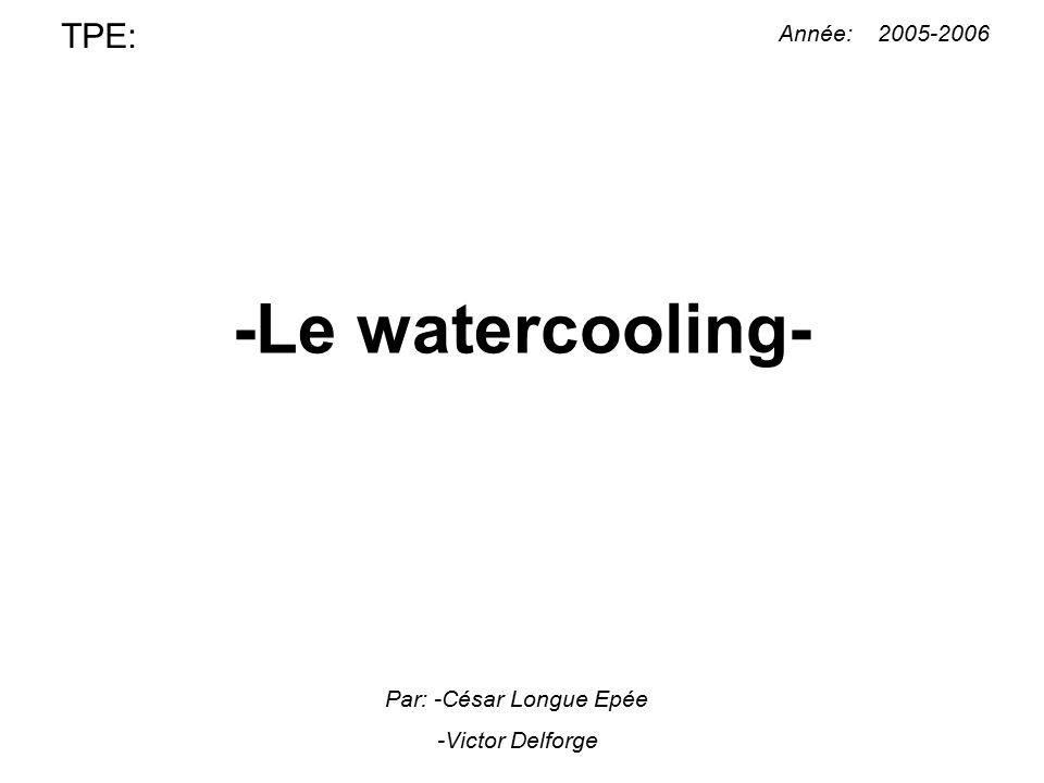 -Le watercooling- TPE: Année: 2005-2006 Par: -César Longue Epée