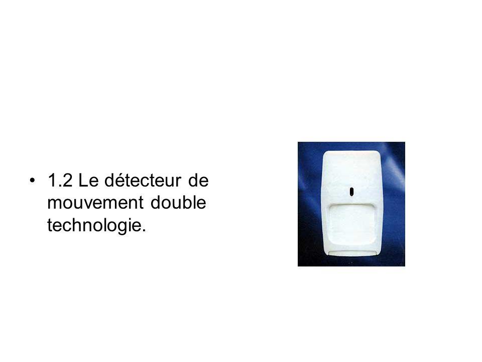 1.2 Le détecteur de mouvement double technologie.