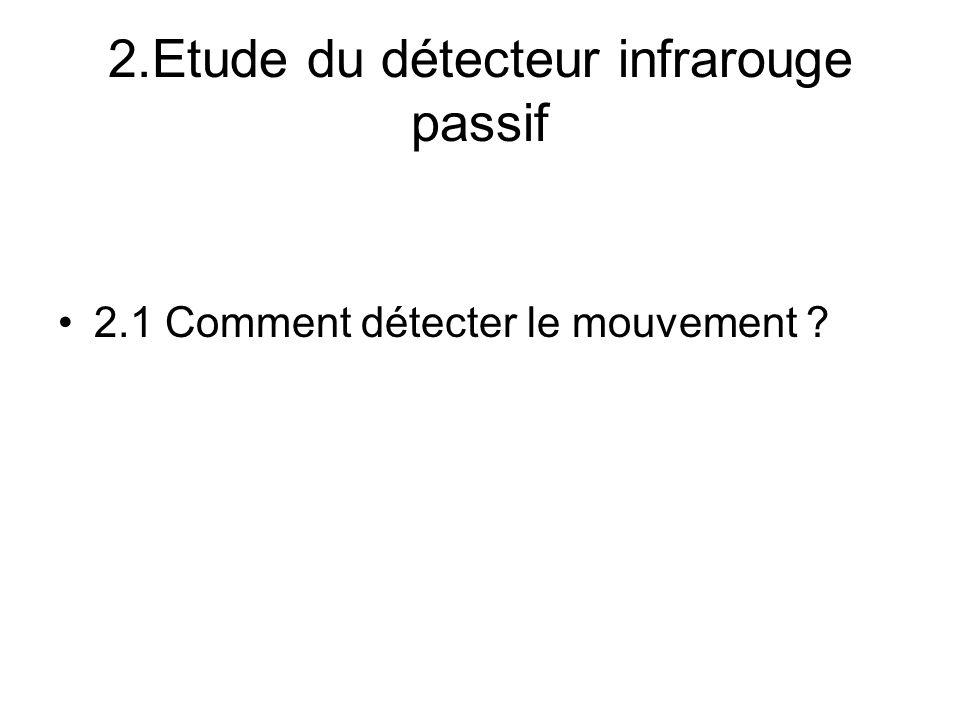 2.Etude du détecteur infrarouge passif