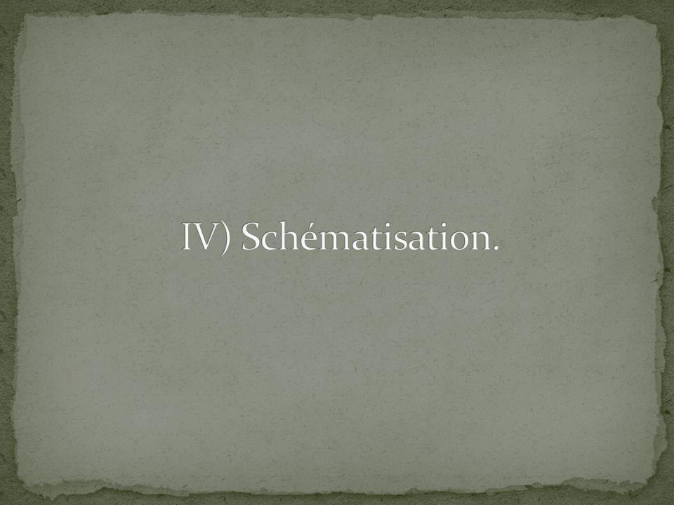 IV) Schématisation.