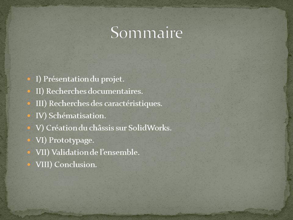 Sommaire I) Présentation du projet. II) Recherches documentaires.