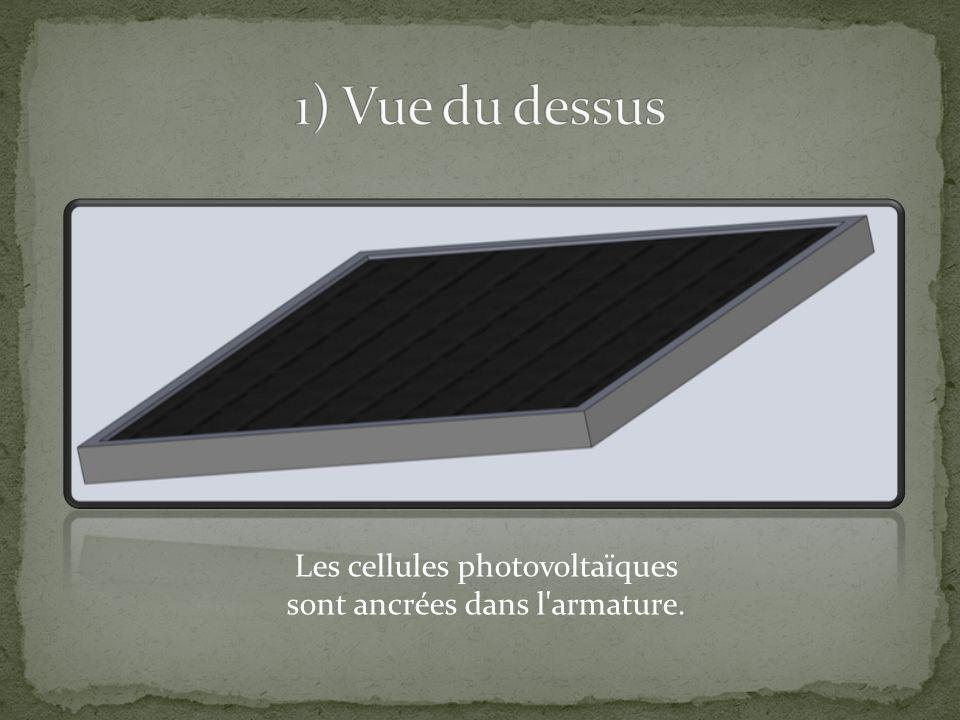1) Vue du dessus Les cellules photovoltaïques